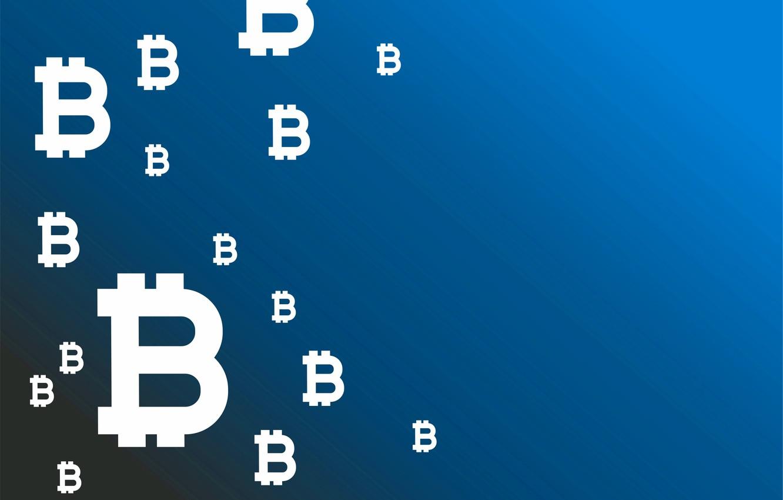 Фото обои синий, фон, лого, logo, blue, fon, bitcoin, биткоин, btc