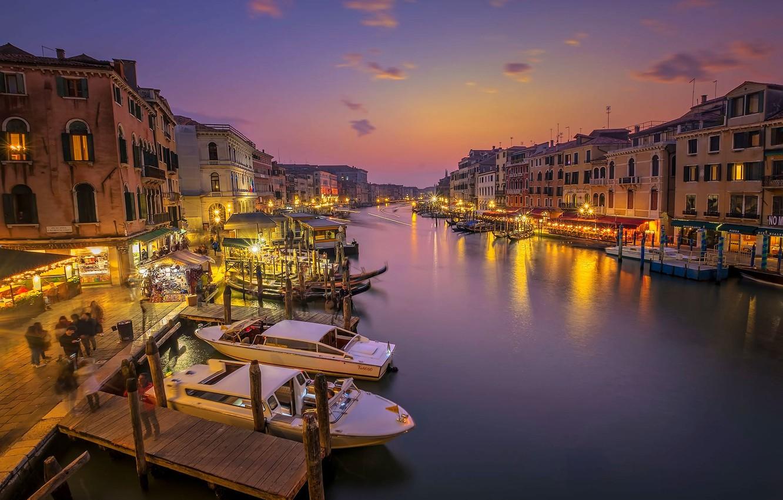 Обои лодка, канал, венеция. Города foto 18