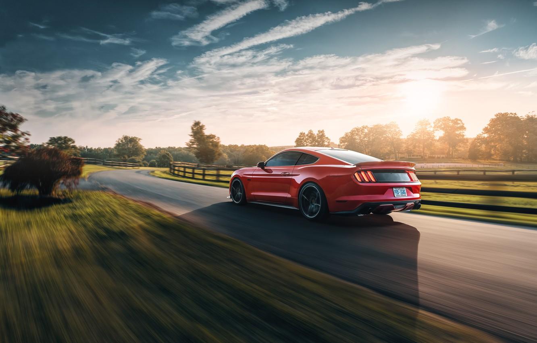 Фото обои скорость, Mustang, Ford, 2018, Mustang GT, by Jimmy Zhang