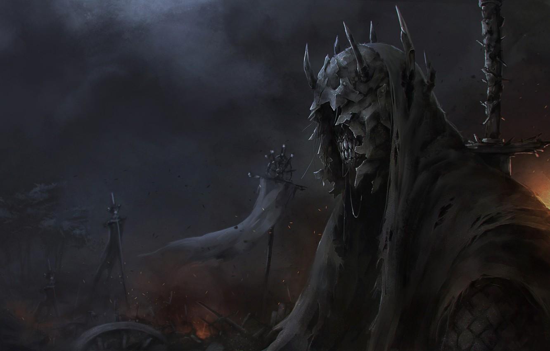 Фото обои Рисунок, Властелин Колец, Арт, Art, Призрак, The Lord of the Rings, Concept Art, Назгул, Characters, …