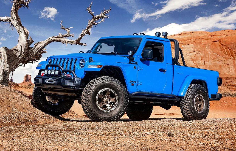 Фото обои Gladiator, Jeep, 2019, Jeep J6
