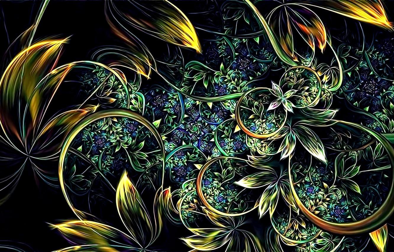 Обои узоры, цветы. Абстракции foto 14