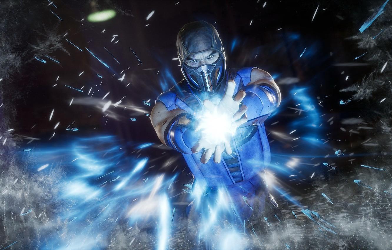 Фото обои лёд, Игра, ice, Боец, Смертельная Битва, Sub-Zero, Саб-Зиро, Mortal Kombat 11, криомант