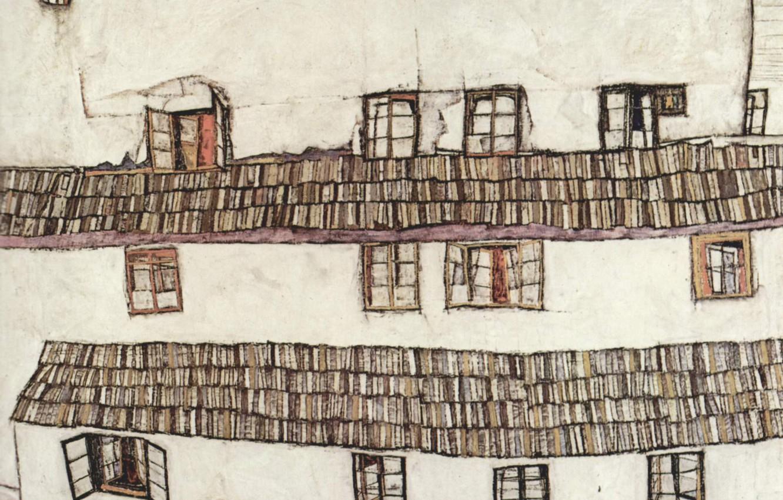 Фото обои Окна, 1914, Эгон Шиле, Finestre
