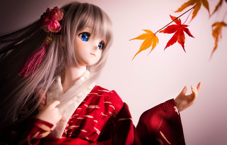 Обои японка, зонтик, Кукла. Разное foto 19