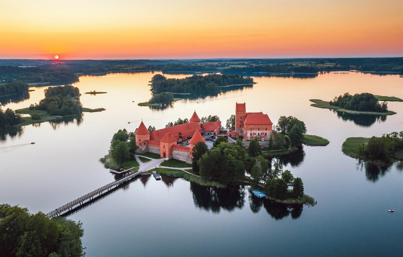 Фото обои Trakai, Lietuva, pilis