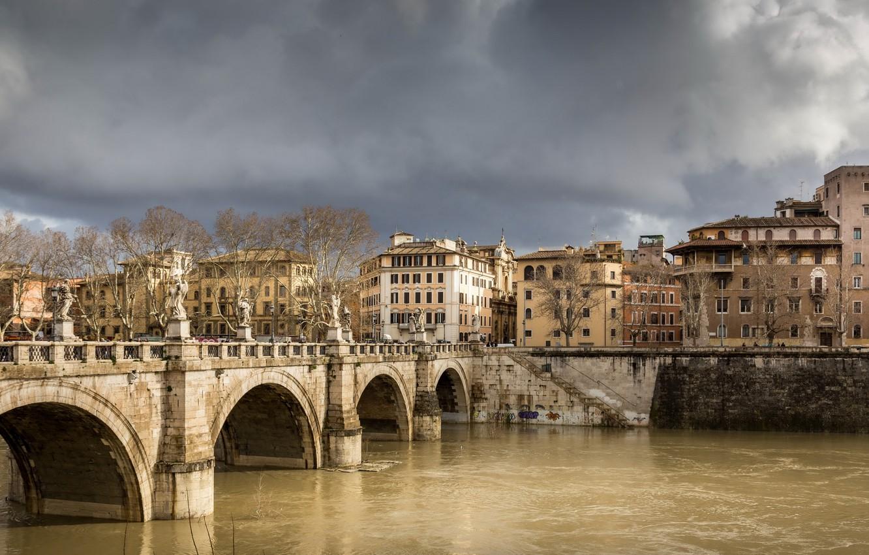 Фото обои город, Рим, Италия