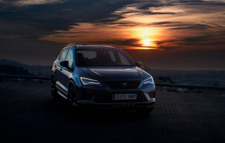 Фото обои закат, вечер, 2018, SUV, Seat, Cupra, Ateca