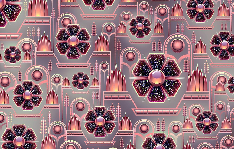 Фото обои фон, графика, текстура, геометрия, digital art