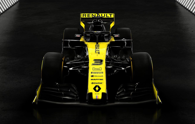 Фото обои Renault, болид, автоспорт, 2019
