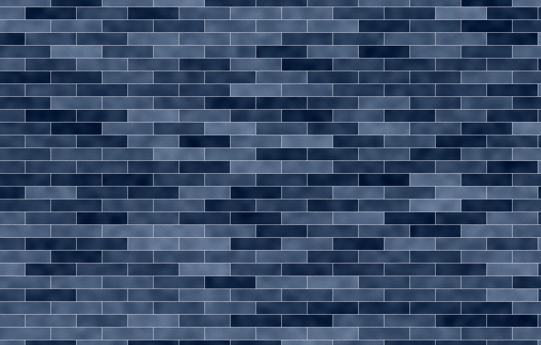 Фото обои wall, blue, brick