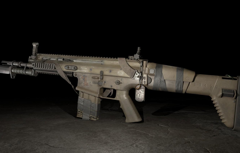 Фото обои рендеринг, оружие, автомат, weapon, render, штурмовая винтовка, SCAR-H, SCAR, assaul rifle