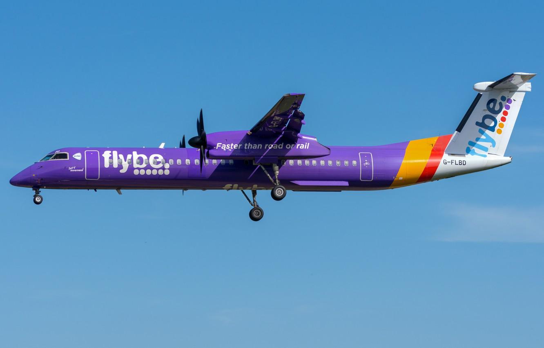 Фото обои Bombardier, FlyBE, DHC-8-Q400