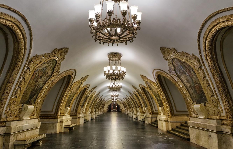 Фото обои город, метро, интерьер