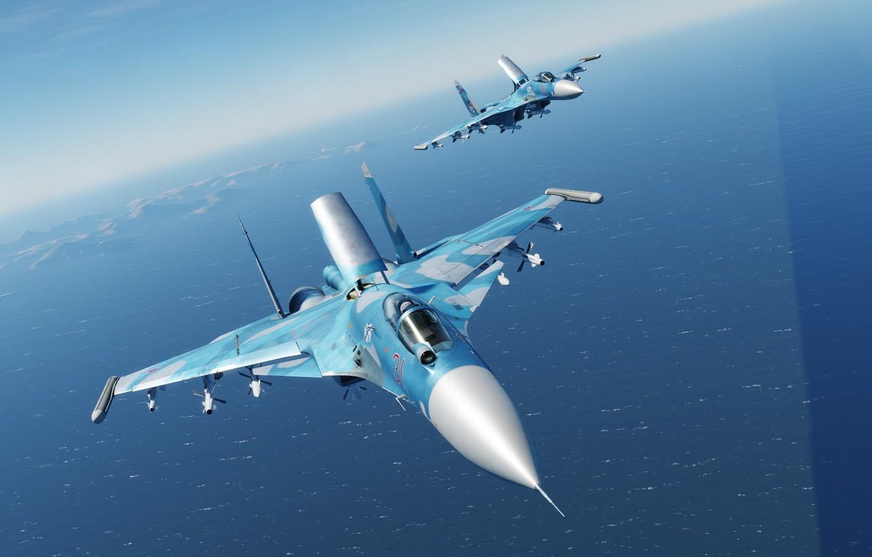 Фото обои Су-33, Палубный истребитель, КБ Сухого
