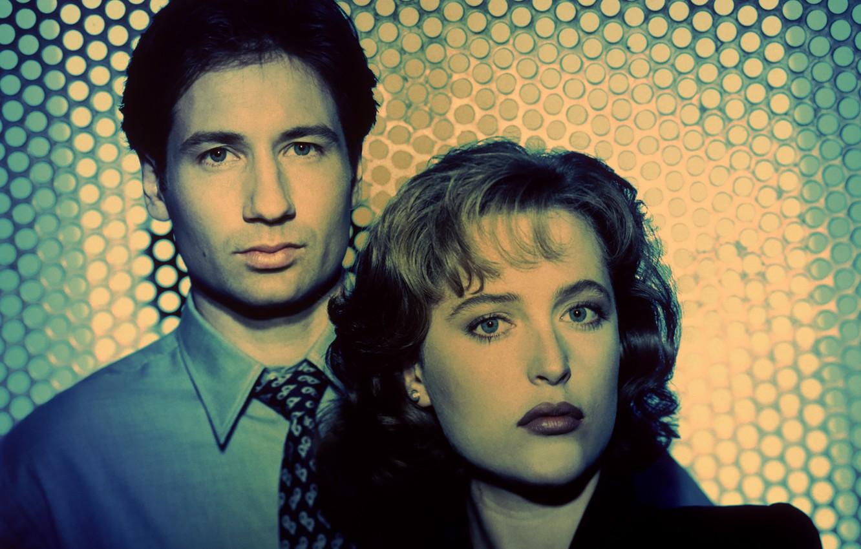 Фото обои Фокс, сериал, The X-Files, Секретные материалы, Дана, Скалли, Малдер
