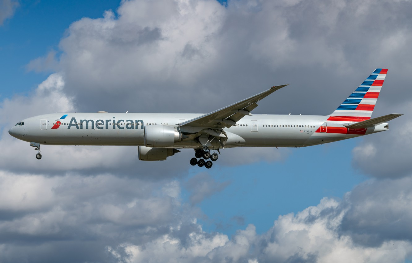 Фото обои Boeing, 777-300ER, American Airlines