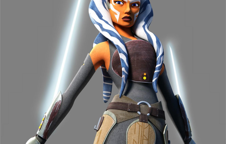 Фото обои Star Wars, световые мечи, Asoka Tano, Асока Тано, Star Wars Rebels, light saber, Звёздные Войны …