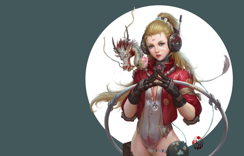 Фото обои фэнтези, арт, дракончик, jinhao yang