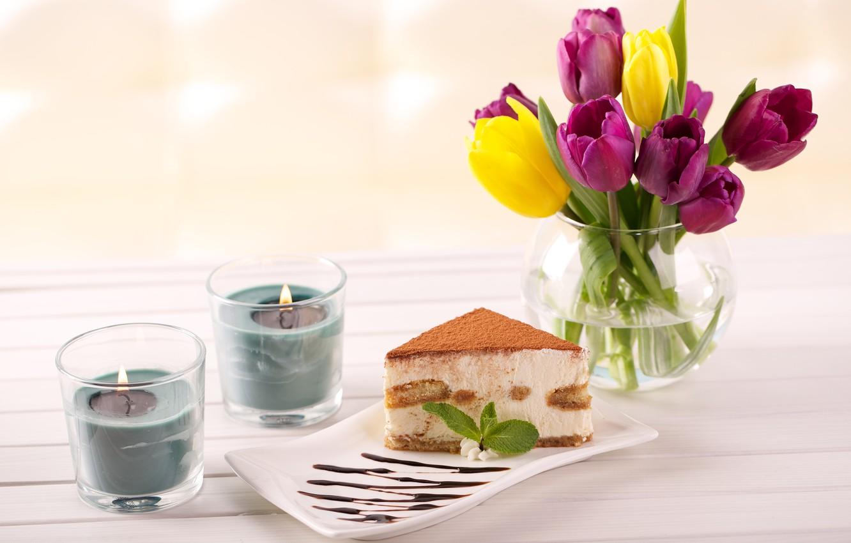 Обои тарелка, стол, свечи. Разное foto 10