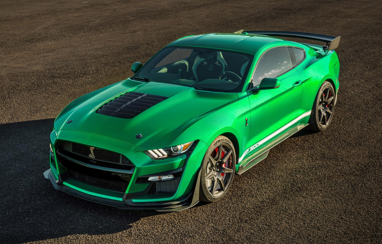 Фото обои Mustang, Ford, Shelby, GT500, 2020, Green Hornet, EXP 500