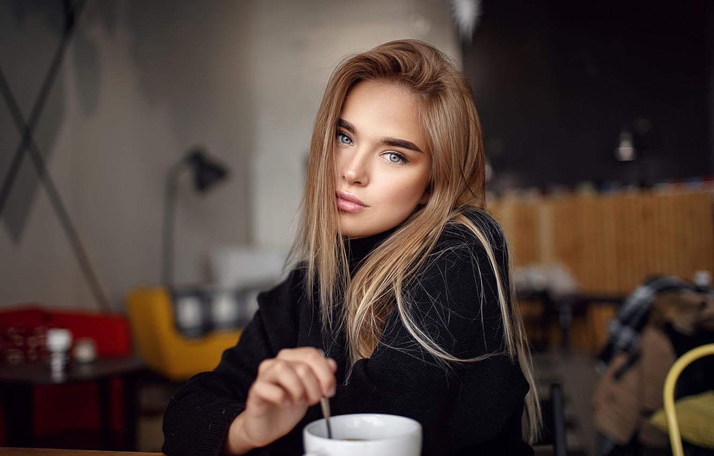 Фото обои взгляд, девушка, длинные волосы, Сергей Сорокин, Люба Иванова
