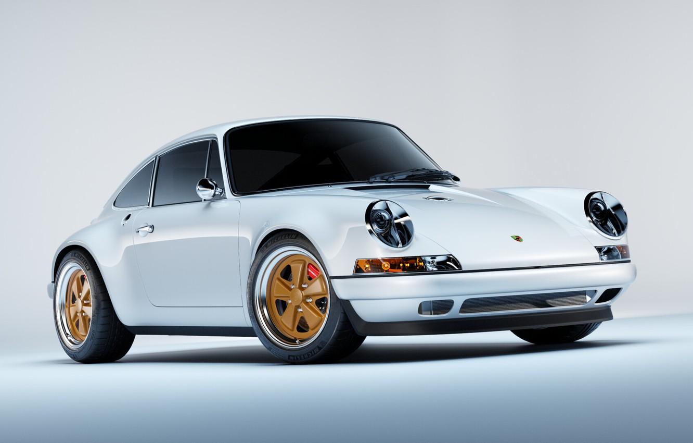 Фото обои Авто, Белый, 911, Porsche, Машина, Car, Render, Porsche 911, Рендеринг, Transport & Vehicles, Filip Siemiginowski, ...