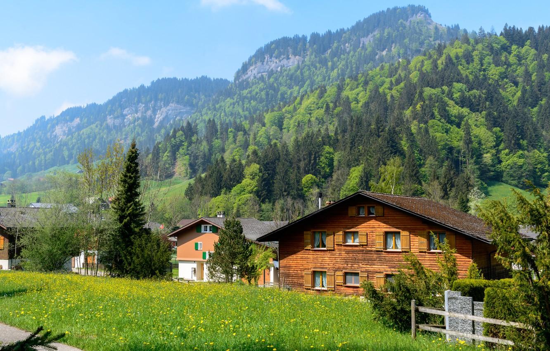 Обои дома, швейцария. Пейзажи foto 6
