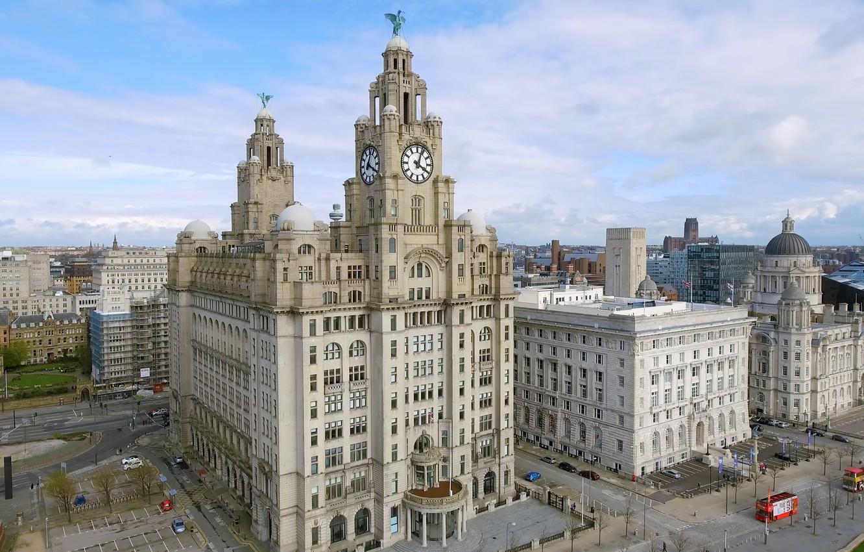 Фото обои Liverpool, England, buildings