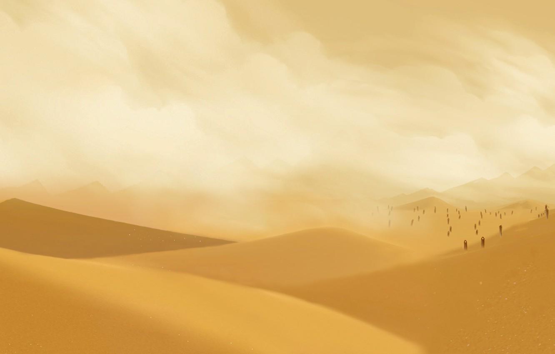 Фото обои Пустыня, dual, 3840 x 1080