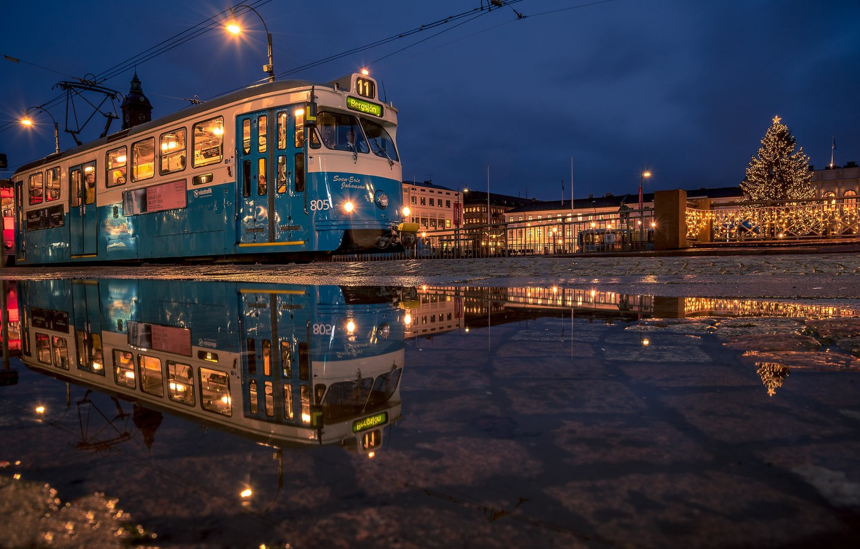 Обои Вечер, швеция, гетеборг. Города foto 14