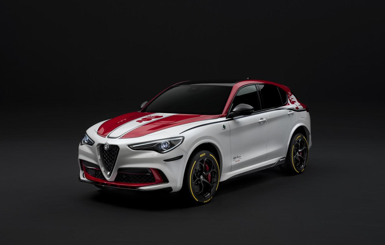 Фото обои тюнинг, Alfa Romeo, Racing, 2019-20, Stelvio Quadrifoglio