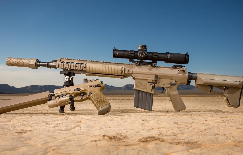 Фото обои оружие, pistol, винтовка, weapon, глушитель, custom, ar-15, assault rifle, assault Rifle, silencer, ар-15, ар 15, …