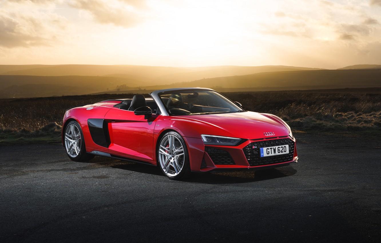 Фото обои Audi R8, Spyder, V10, 2019