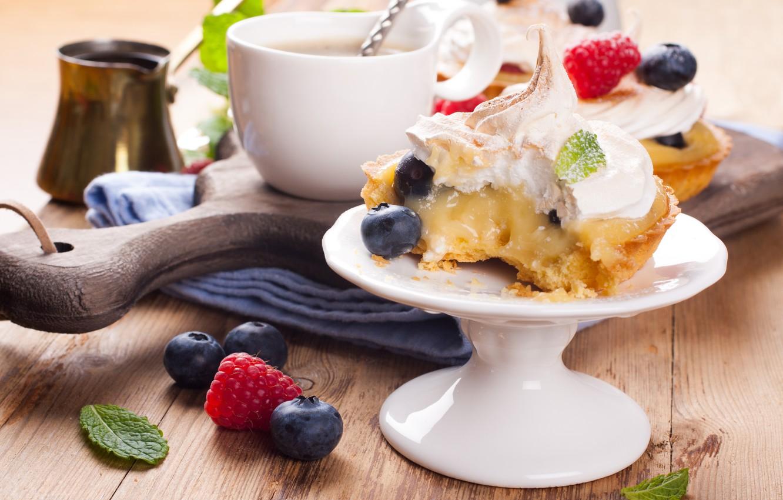 Фото обои кофе, чашка, крем, десерт, тарталетка, Iryna Melnyk