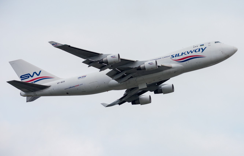 Фото обои Boeing, 747-400F, Silk Way West Airlines