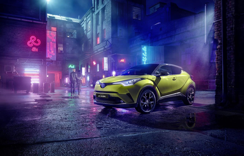 Фото обои Toyota, C-HR, 2019, Neon Lime, powered py JBL