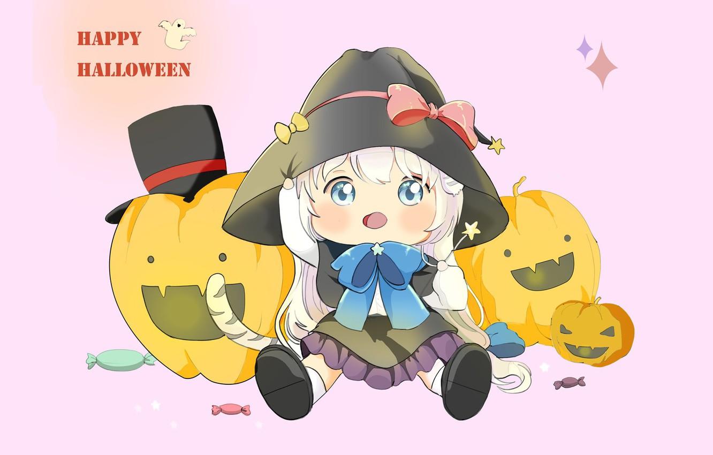 Фото обои праздник, аниме, арт, тыква, хэллоуин, Happy Halloween, 지은 송
