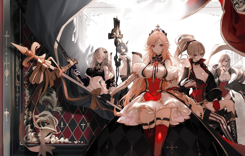 Фото обои girl, game, armor, dress, woman, anime, beautiful, pretty, blade, asian, cute, manga, oriental, asiatic, oppai, …