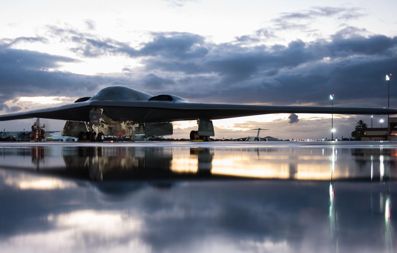 Обои B-2a, стратегический, бомбардировщик. Авиация foto 15