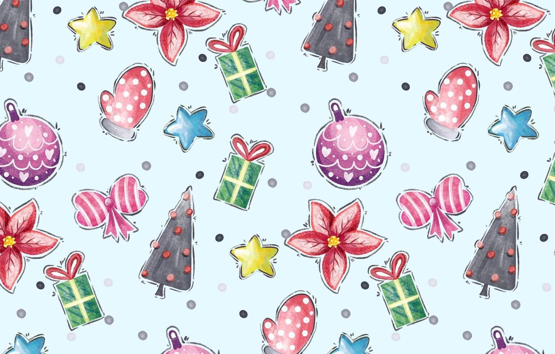 Фото обои цветок, фон, подарок, звезда, елка, новый год