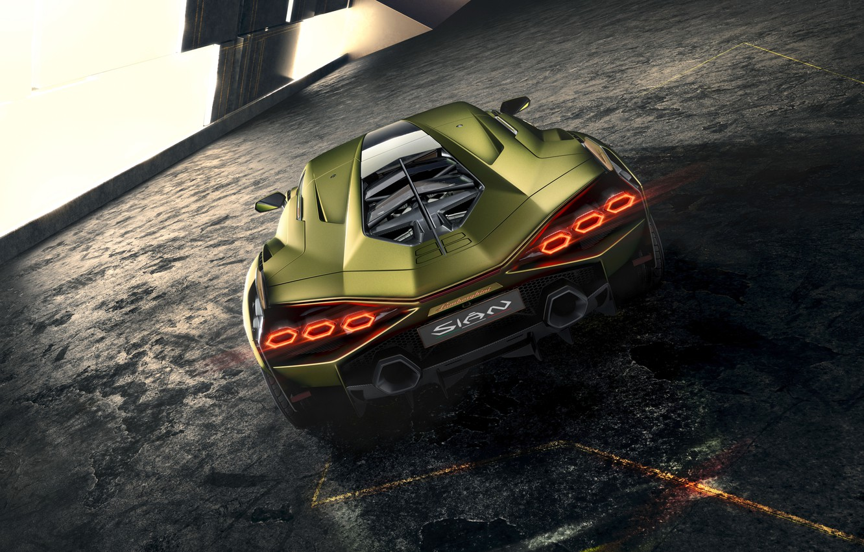 Фото обои Lamborghini, суперкар, гибридный, Sián