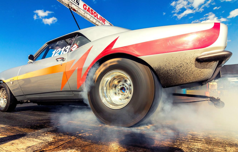 Фото обои машина, гонка, Dragracing