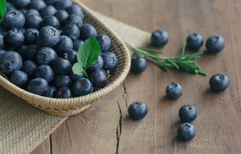 Фото обои blueberry, ягоды, berries, wood, голубика, fresh, черника