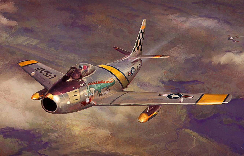 Обои F-86 Sabre, Самолёт. Авиация foto 10