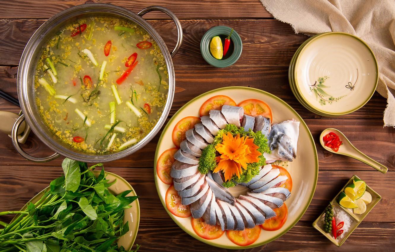 Фото обои еда, рыба, сервировка