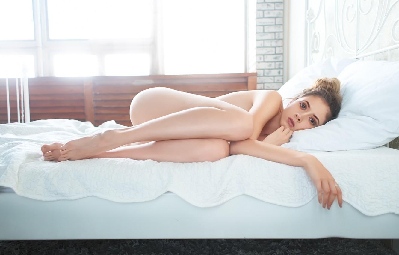 Фото обои девушка, постель, Disha Shemetova, Максим Александрович