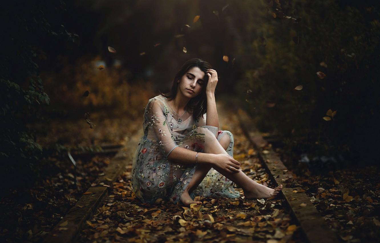 Фото обои осень, девушка, Maria Nita Vlad