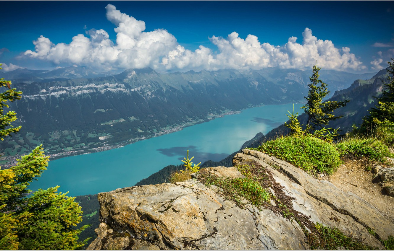 Фото обои Швейцария, Бриенцское озеро, кантон Берн