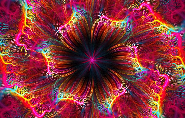Фото обои цветок, яркие краски, фрактал, flower, компьютерная графика, fractal, bright colors, computer graphics